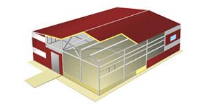 Металлоконструкция и сэндвич-панели